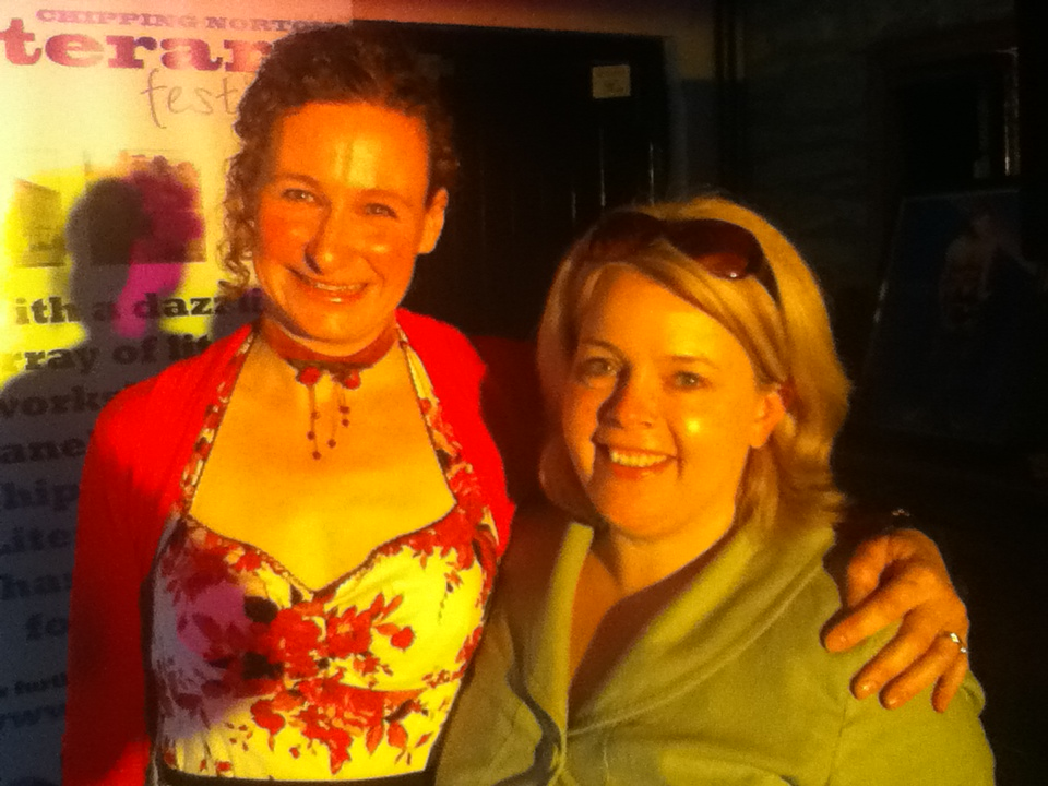 Helen Blantz (sponsor) meets Tina Sederholm (poet) at Chiplitfest, April 2013