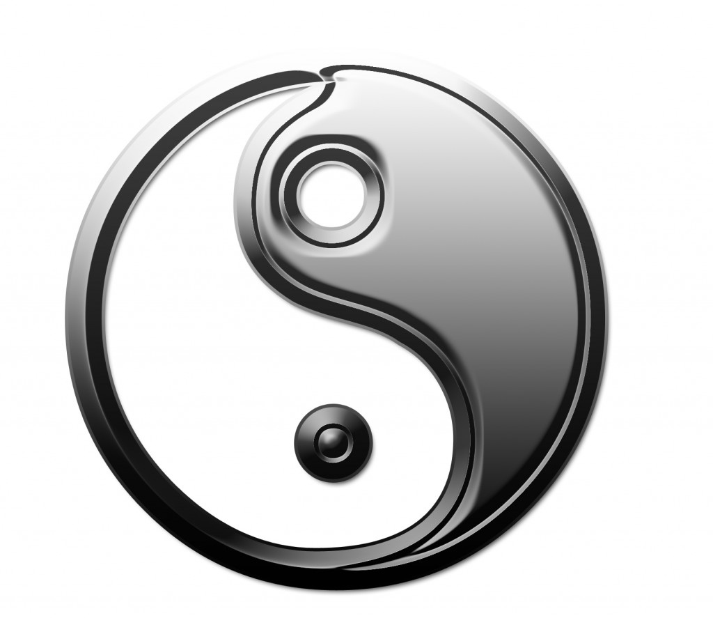 The Yin & Yang symbol: also called the T'ai Chi symbol